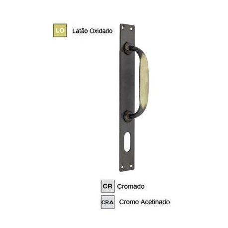 Puxador Isero c/placa para Cilindro Oval